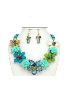 Stunning Spring Collection Statement necklace