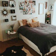 Boho dorm room room inspiration a a bohemian bedrooms bedroom decor College Room Decor, Dorm Room, Uni Room, Dream Rooms, Dream Bedroom, Cozy Bedroom, Bedroom Decor, Bedroom Ideas, Teen Bedroom