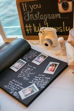 How cute is this polaroid guest book idea? 15 Creative And Unique Guest Book Alternatives