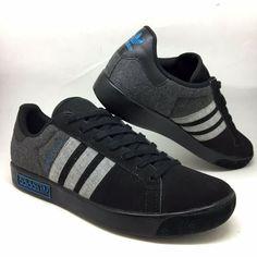 7d55d5b244 adidas Originals Mens FOREST HILLS Trainers Black sz 9 Sneakers EU 43 1/3 US  9.5   eBay