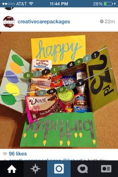 Happy Bday 25 Birthday Gift Girlfriend Gifts Care Packages Diy