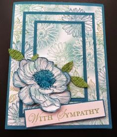 391 - PENNY TOKENS STAMPIN SPOT - This card was made for the May Wacky Water Cooler  Feeling Blue Retirement Blog Hop