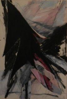 Andre de Jong (1945-), Gevleugeld, mixed media,