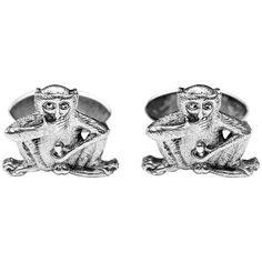 Fiddling Monkey Sterling Silver Cufflinks   From a unique collection of vintage cufflinks at https://www.1stdibs.com/jewelry/cufflinks/cufflinks/
