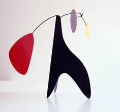 Alexander: Steel Table Mobile Sculpture, Mid Century Modern Stabile