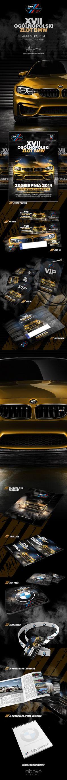 Event stuff & identity design for BMW M-Power Club Torun - organizer of XVII Ogólnopolski Zlot BMW