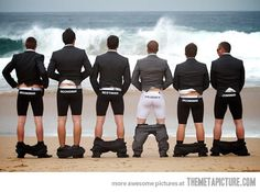 Men at a wedding… love this!