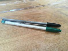 Décoration d'encre de stylo avec du masking tape