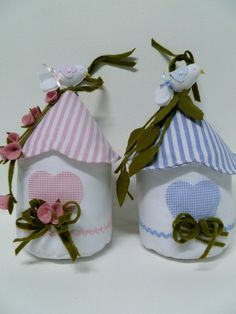 Lovely craft ~ Fabric Bird House  by Infinita Arte
