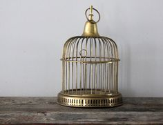 Brass Bird Cage by Heritage1956