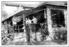 MAYBEURY WV COMMUNITY BUILDING - Young men in photo are Elmer Dunagan, John Onifer and Curt Cunningham. Photo courtesy Bill Blevins, EHS 1945, and Jack Barger, webmaster for the Elkhorn High School website.
