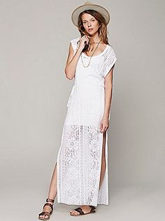 White lace & free people