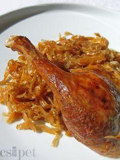 egycsipet: Kacsapecsenye Hungarian Recipes, Gnocchi, Poultry, Chicken Recipes, Bacon, Pork, Food And Drink, Turkey, Menu
