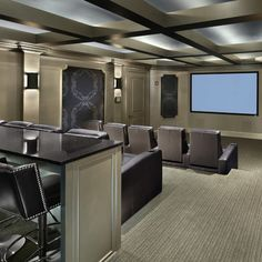 Media Room - Basement movie theatre idea.  For the movie junkies like me!!