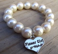 Wedding Jewelry- Flower Girl Bracelet. $6.00, via Etsy.