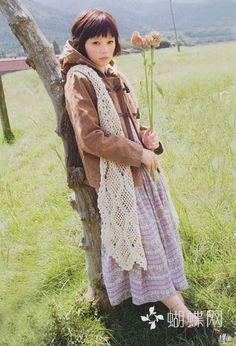 mori girl crochet vest