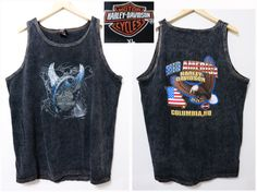 Vintage 90's Acidwash black Harley Davidson by schippervintage, $29.99