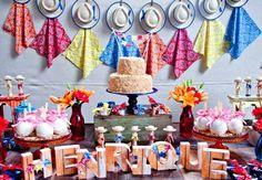 Festa junina infantil: ideias para um aniversário com decoração caipira para crianças #arraial