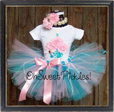 DREAMY KISSES - Includes Birthday Tutu Skirt Set, Headband & 3D Cupcake Shirt - Newborn, 1st, 2nd, 3rd, 4th, 5th, 6th, 7th Birthday