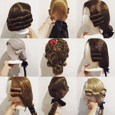 Wigs made for the cast at Colonial Williamsburg