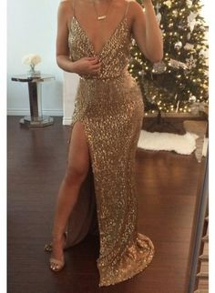 Dress: maxi dress, prom dress, gown, wedding dress, bridesmaid, summer dress, gold, gold sequins, gold necklace, necklace, sequins, sequin dress, sequin prom dress, outfit, style, new year dresses, new years outfit, new years eve dress, christmas, xmas gifts, tumblr, tumblr outfit, style me, girl, girly, girly wishlist, sexy dress, sexy, shoes, jewels, jewelry, bar necklace, homecoming dress, side split maxi dress, side split, long shirt with split on sides - Wheretoget