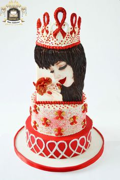 UNSA Be Red Collaboration!! - Cake by ShrutisCakeAddiction