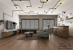 Deckenleuchte Plan Industrial Interior Design, Industrial House, Home Interior Design, Living Room Lighting, Living Room Decor, Loft, House Construction Plan, Industrial Ceiling Lights, Home Theater Rooms