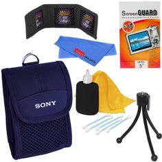 Sony Well Padded Digital Camera Carrying Case for Cyber-shot & Digital Cameras + Bundle Accessory Kit Cyber, Carry On, Sony, Camera Bags, Wellness, Digital Cameras, My Favorite Things, Art Supplies, Accessories