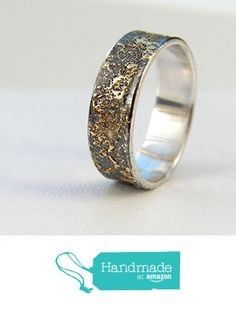 Gold Chaos - Rustic Men's Wedding Ring, Sterling Silver and 18k Gold from Anna Rei Jewellery http://www.amazon.com/dp/B017HUFPXW/ref=hnd_sw_r_pi_dp_Odtowb03AEW7Y #handmadeatamazon