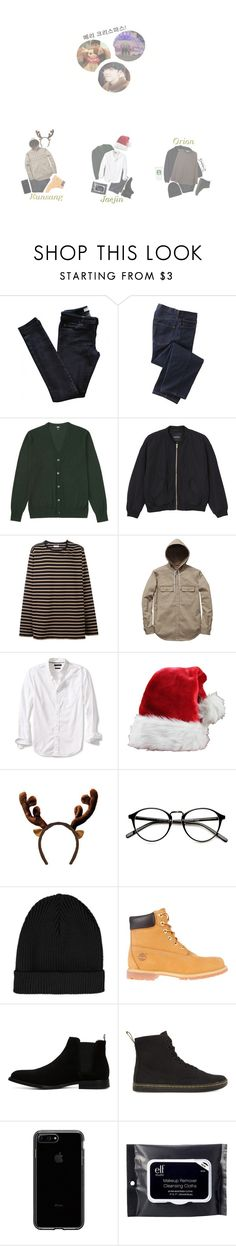 """""""Merry Christmas From Eunsang, Orion, & Jaejin"""" by official-starx ❤ liked on Polyvore featuring Vanessa Bruno Athé, TravelSmith, Uniqlo, Monki, Faith Connexion, Banana Republic, Topshop, Timberland, ALDO and Dr. Martens"""
