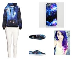 """""""Just me"""" by amerikiscornett ❤ liked on Polyvore featuring beauty, H&M and Vans"""