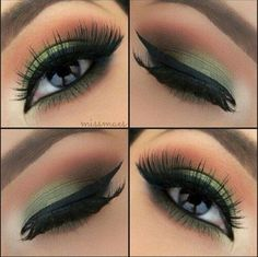Love, love, love this look!!  ~ mh Green eyeshadow #makeup   http://pst.postris.com/posts/46570_210086008_l.jpg