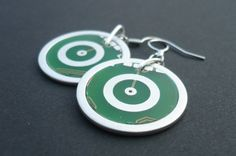 Earring omicron printed circuit board PCB earring by uniqueXberg