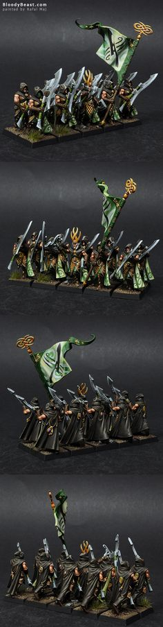 This is second build that can be made form the same box as Eternal Guard. But this build looks far more badass. I really like hooded heads and those great blades. Great models. To druga opcja jaką ...