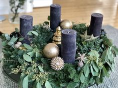 Advent Candles, Advent Wreaths, Christmas Pictures, Merry Xmas, Xmas Decorations, Bouquet, My Favorite Things, Creative, Flowers