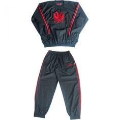 tuf wear super pro small eagle (kick)boksshort wit rood trainingtuf wear sweat suit zweetpak