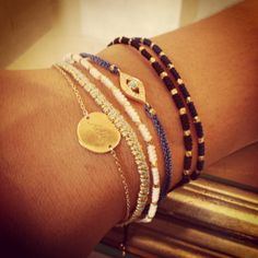 It is no secret however that we have a certain penchant for all things layered. #AstleyClarke #jewellery #stacking #bracelets #evileye #jewelry #gemstone #diamond #designer #friendshipbracelet #British #London #style #armswag #armparty #armcandy