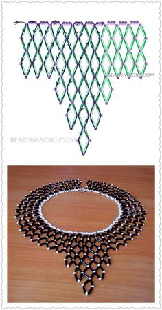 Best 12 This beaded collar necklace – made and designed in Cape Town, South Africa – was will turn heads in admiration as it enhances your outfit. Diy Necklace Patterns, Beaded Jewelry Patterns, Beading Patterns, Bead Jewellery, Seed Bead Jewelry, Bead Embroidery Jewelry, Beaded Embroidery, Beaded Braclets, Beading Tutorials