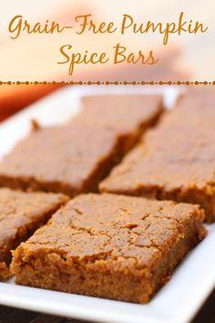 Grain Free Pumpkin Spice Bars! These are SOOO good!