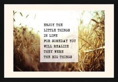 The Little Things Framed Print, Black, Contemporary, White, Cream, Single piece, 20 x 30 inches, White