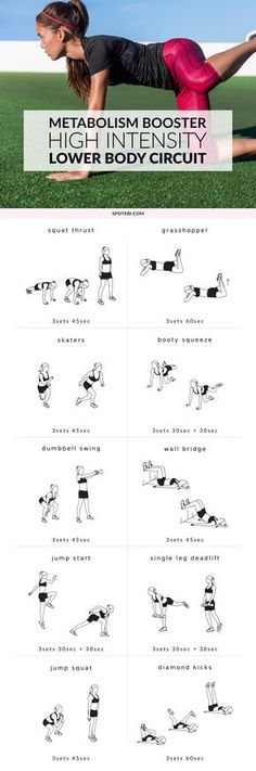 Get slim, shapely legs and thighs and build a firm, perky tush with this high-intensity lower body workout. A complete strength and cardio circuit that will help you sculpt lean and strong muscles and burn off body fat fast! http://www.spotebi.com/workout-routines/high-intensity-lower-body-workout/