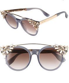 7e1707037a1 Jimmy Choo Vivy Round Frame Sunglasses