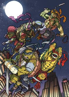 TMNT - Napoli Comicon 2014 (Color) by darnof.deviantart.com on @DeviantArt