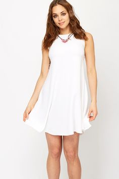 Necklace Insert Flared Dress
