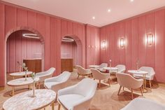 Velvet-lined interior of NANAN Patisserie by BUCKSTUDIO provides a striking setting for it's protagonists: finely decorated and meticulously made sweets.