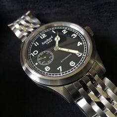 Love the bracelet on #Hanhart watches. Available from us #watchnerd #wornandwound
