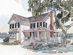 Home Plan HOMEPW24076 - 1927 Square Foot, 4 Bedroom 3 Bathroom + Farmhouse Home with 0 Garage Bays | Homeplans.com