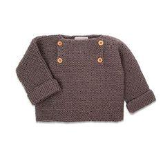 Le projet tricot idéale pour les futures et jeunes mamans: un pull sans couture. Voici un patron gratuit de tricot pour s'entrainer à tricoter sans prise de tête, tout en habillant votre petit.