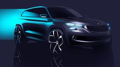 Skoda confirms launch of new SUV in 2016 - IAB Report Car Design Sketch, Car Sketch, Mercado San Anton, Large Suv, Vw Group, Cars Characters, Ford Gt, Transportation Design, Car Photography