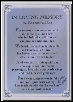 In Loving Memory on Father's Day - I miss you Daddy! Love you bunches! Dad Poems, Fathers Day Poems, Happy Father Day Quotes, Dad Quotes, Grief Poems, Sweet Quotes, Daughter Quotes, Quotable Quotes, Happy Mothers